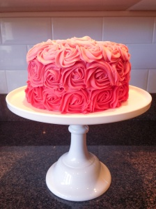 Rose Ombre Buttercream Cake