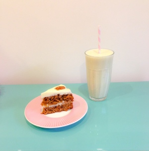 Carrot Cake and Milkshake