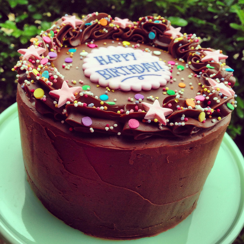 Chocolate Confetti Cake