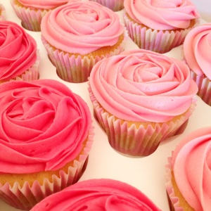 Rose Ombre Cupcakes